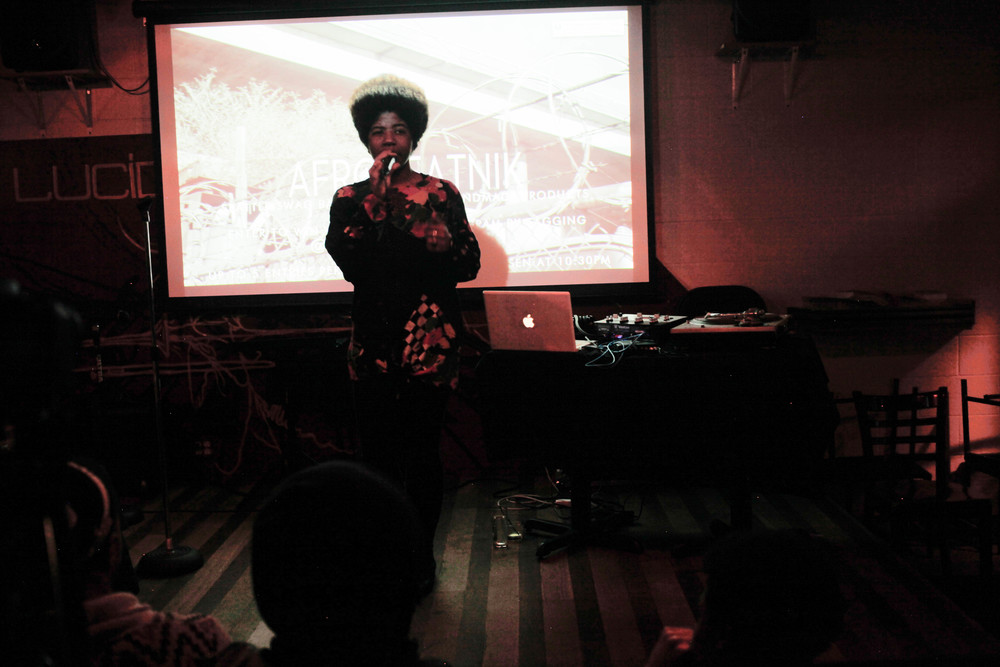 Catherine Harris-White performs at the Afrobeatnik launch party at Lucid Lounge.