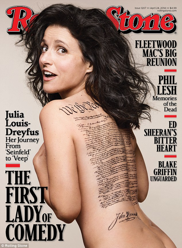Julia Louis-Dreyfus rocks the cover of Rolling Stone's April issue.