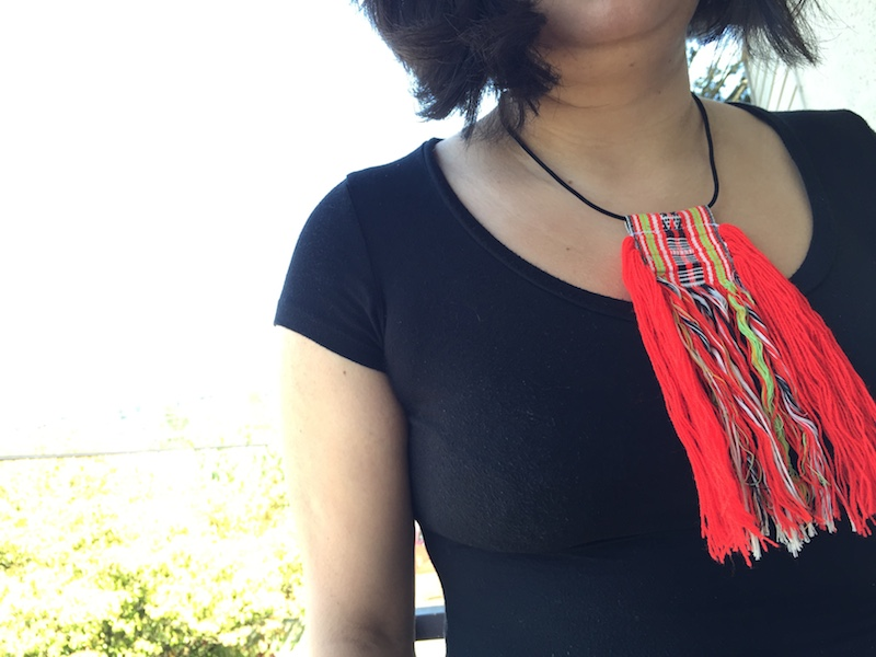That's all folks! Five   easy steps to creating  your own tassel necklace. Share with   Afrobeatnik   what your necklace looks like and what you would wear this bold statement piece with!