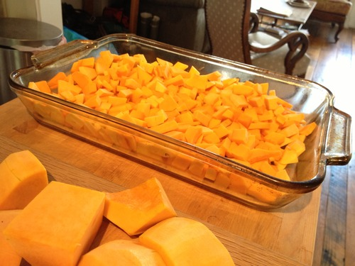 I'd be lying if I didn't say it all began with the chopping of the squash.