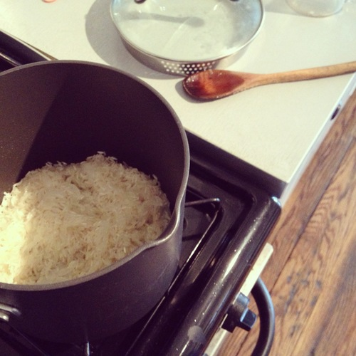 Prepped a little rice.