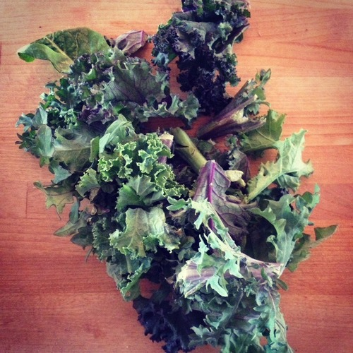 Kale. You're so pretty but CHOP. (Saving you for the end.)