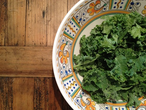 Kale leaves. Can we talk about being anxious for fall?
