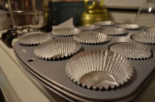 Assemble the muffin pan.