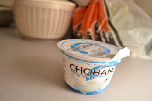 Plain Greek yogurt, use it up.