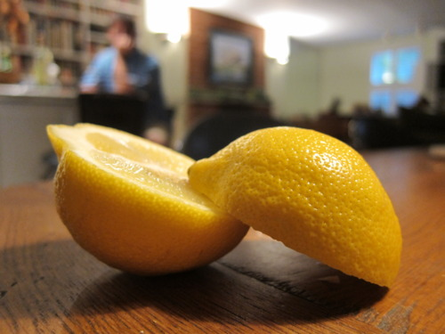 Tempted by the squeeze of a lemon.
