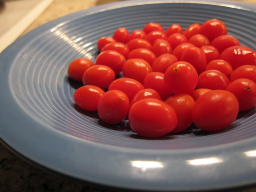 Cherry tomato bombs.
