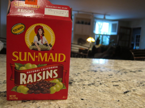 Raisins for sweetness.