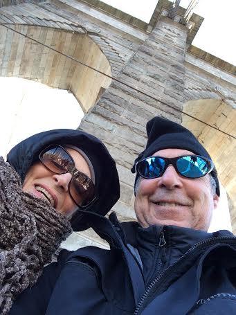 A Brooklyn Bridge birthday selfie for my Dad's 65th.