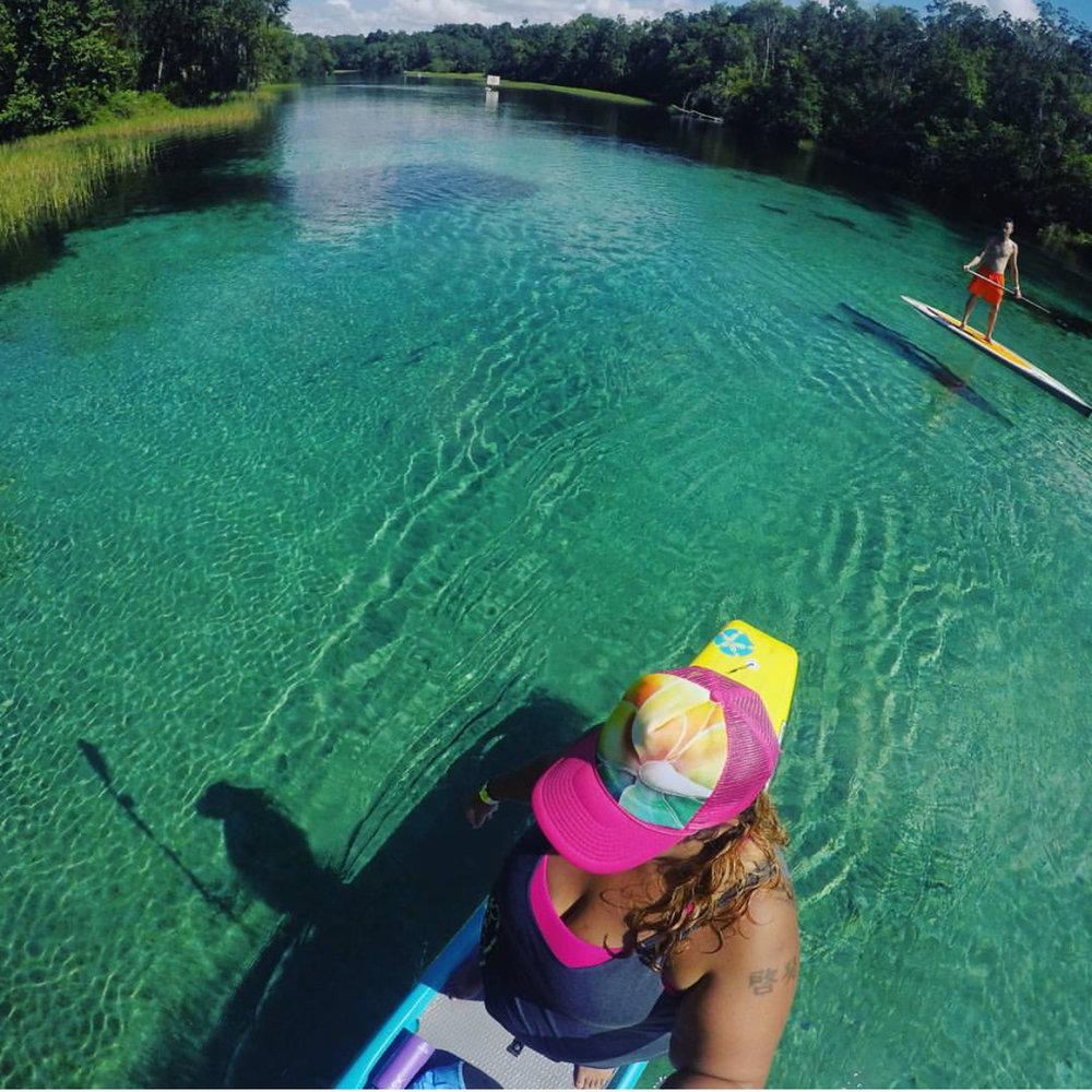 Ambassador Jessica Melger enjoying the green-blue waters of southern Florida.