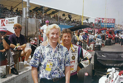 With my childhood hero, Mario Andretti at the Indianapolis 500 in 1994