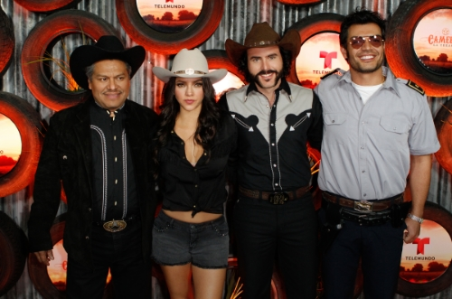 "Los Angeles, CA. - Feb. 10, 2014: Elenco ""Camelia La Texana"" / Conferencia de Prensa - Telemundo (Photo:DDPixels)."