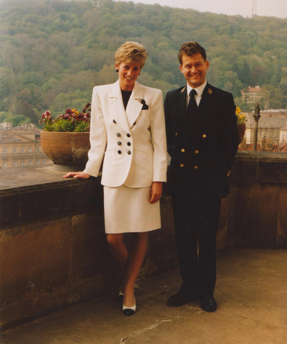 Princess Diana with Paul Burrell.