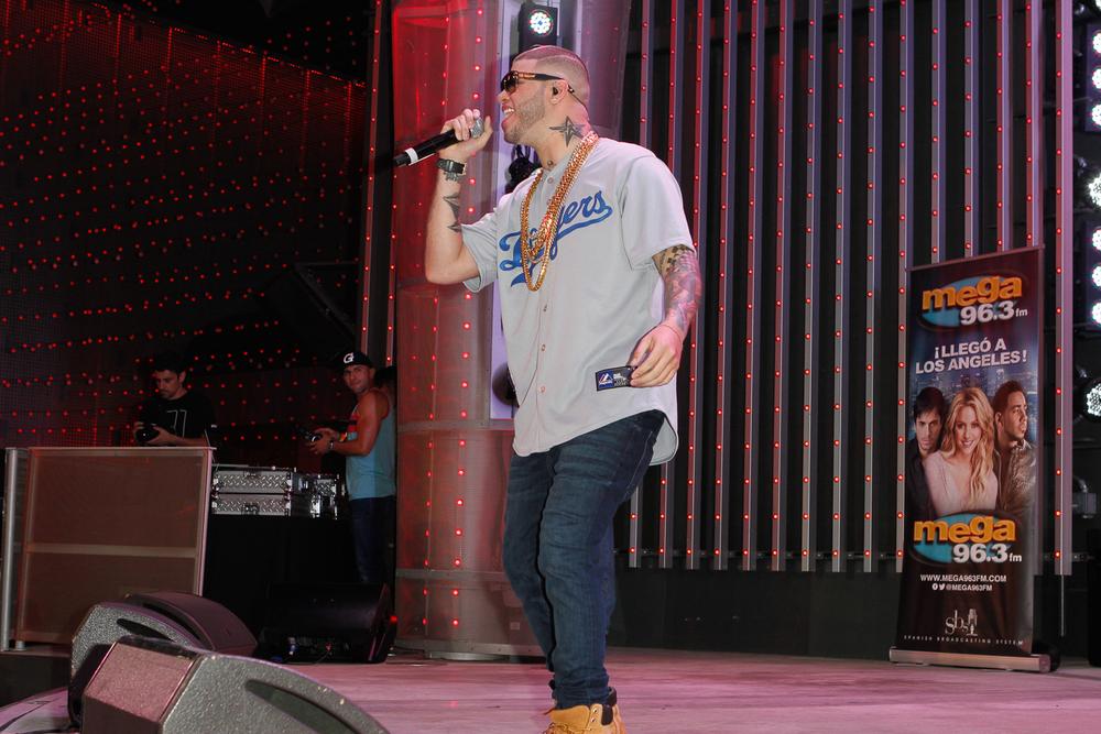 Farruko durante su presentación en Descarga 2014