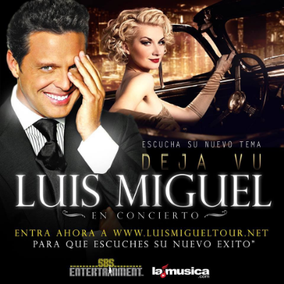 """Conéctate ahora awww.luismigueltour.netpara que escuches la nueva canción de Luis Miguel """"DEJAVU"""" #LuisMiguelTour #LuisMiguelTour2014"""