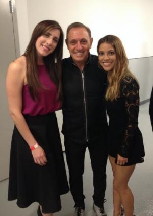 Mariana Vega, Franco De Vita y Debi Nova antes de la presentación