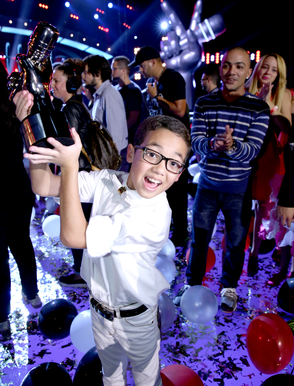 LA VOZ KIDS -- Season:3 -- Pictured: Jonael Santiago -- (Photo by: Gregg Newton/Telemundo)