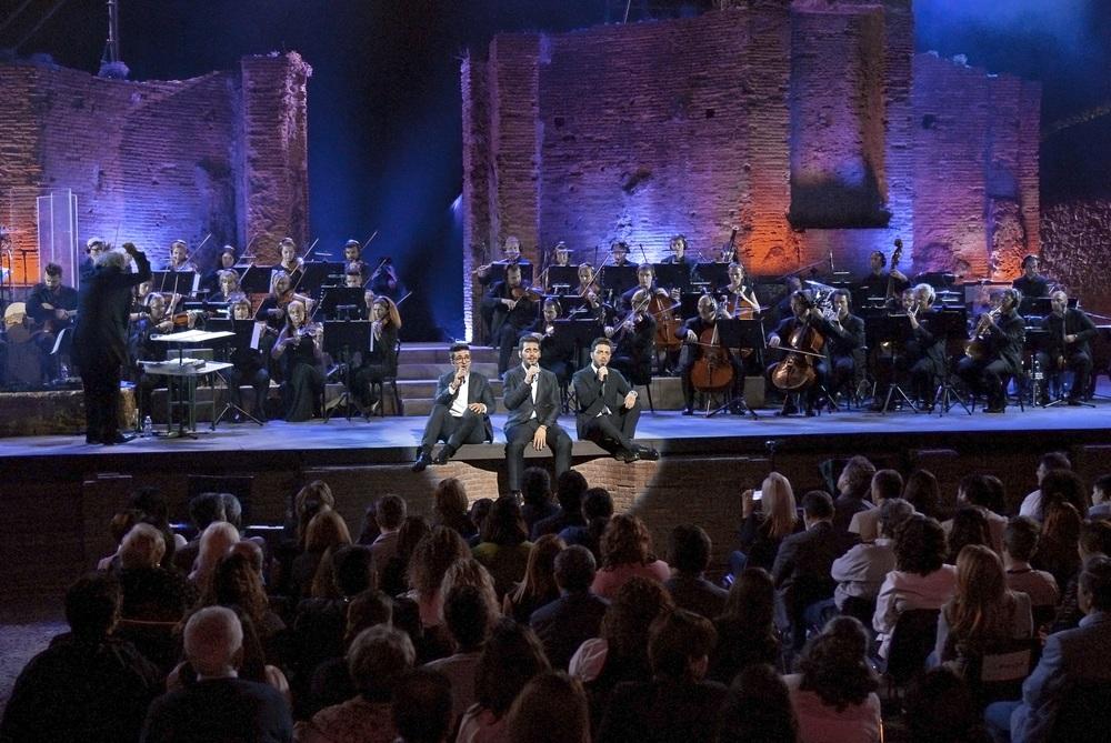 """Il Volo """"Live 2015""""Anfiteatro di Pompei - Ercolano"""
