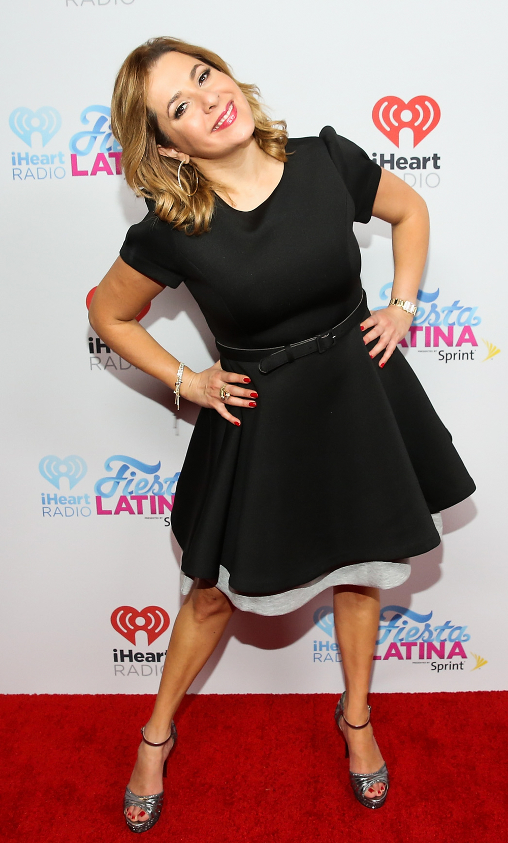 MIAMI, FL - NOVEMBER 07:  Ana Maria Conseco, fashion detail, attends iHeartRadio Fiesta Latina presented by Sprint at American Airlines Arena on November 7, 2015 in Miami, Florida.  (Photo by Aaron Davidson/Getty Images for iHeartMedia) *** Local Caption *** Ana Maria Conseco