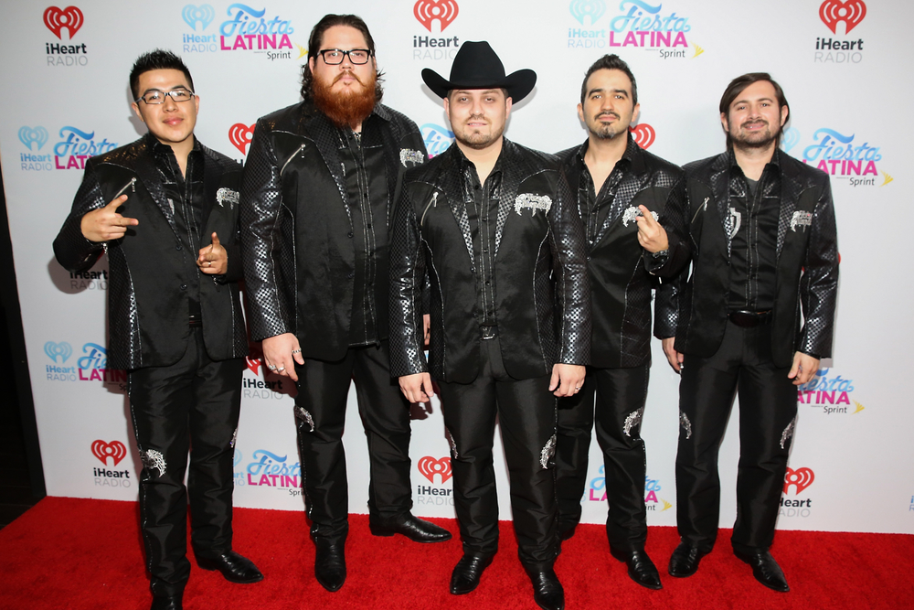 MIAMI, FL - NOVEMBER 07:  (L-R) Musicians Mingo Bolanos, Miguel Gaxiola, Jorge Gaxiola, Adrian Gonzalez and Carlos Sigala of Voz de Mando attend iHeartRadio Fiesta Latina presented by Sprint at American Airlines Arena on November 7, 2015 in Miami, Florida.  (Photo by Aaron Davidson/Getty Images for iHeartMedia) *** Local Caption *** Mingo Bolanos;Miguel Gaxiola;Jorge Gaxiola;Adrian Gonzalez;Carlos Sigala