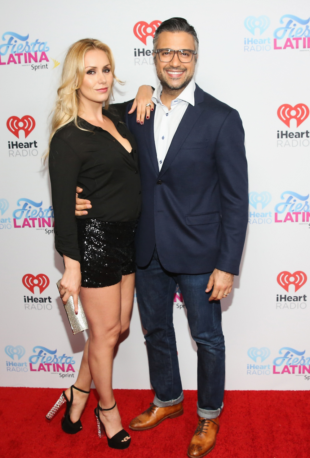 MIAMI, FL - NOVEMBER 07:  Heidi Balvanera (L) and actor Jamie Camil attend iHeartRadio Fiesta Latina presented by Sprint at American Airlines Arena on November 7, 2015 in Miami, Florida.  (Photo by Aaron Davidson/Getty Images for iHeartMedia) *** Local Caption *** Jaime Camil
