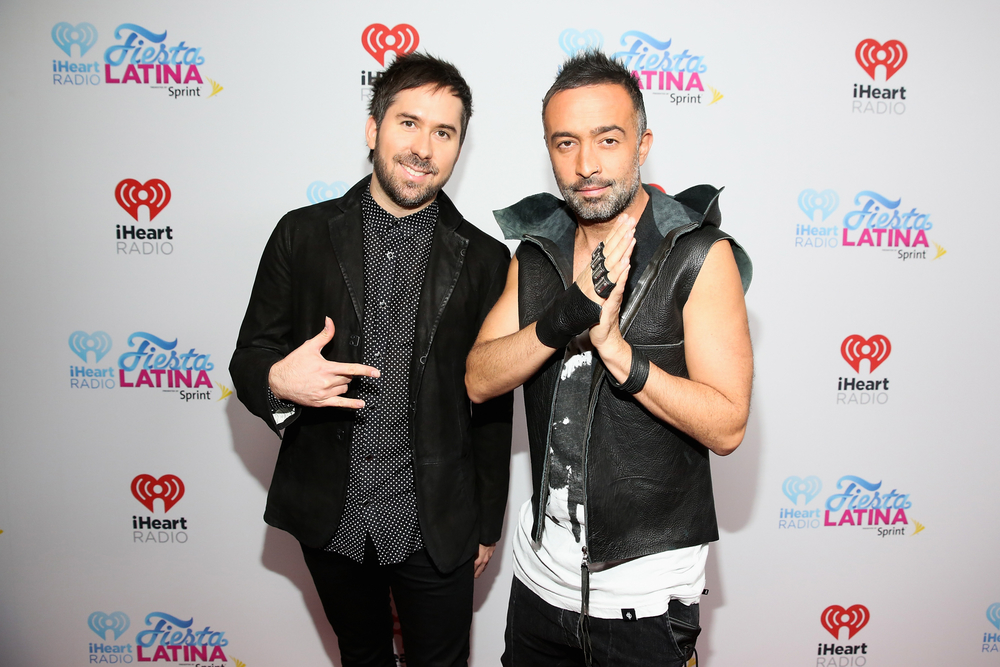 MIAMI, FL - NOVEMBER 07:  Recording artists Pablo Hurtado (L) and Mario Domm of Camila attend iHeartRadio Fiesta Latina presented by Sprint at American Airlines Arena on November 7, 2015 in Miami, Florida.  (Photo by Aaron Davidson/Getty Images for iHeartMedia) *** Local Caption *** Pablo Hurtado;Mario Domm