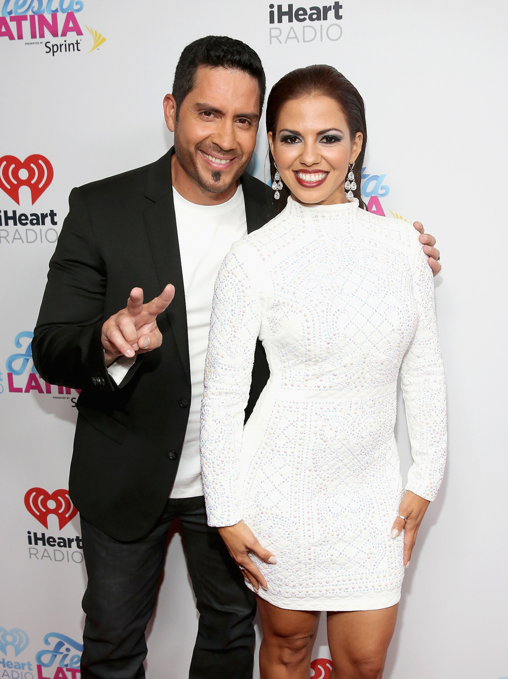 MIAMI, FL - NOVEMBER 07:  Radio personalities John Musa (L) and Jenny Castillo attend iHeartRadio Fiesta Latina presented by Sprint at American Airlines Arena on November 7, 2015 in Miami, Florida.  (Photo by Aaron Davidson/Getty Images for iHeartMedia) *** Local Caption *** John Musa;Jenny Castillo