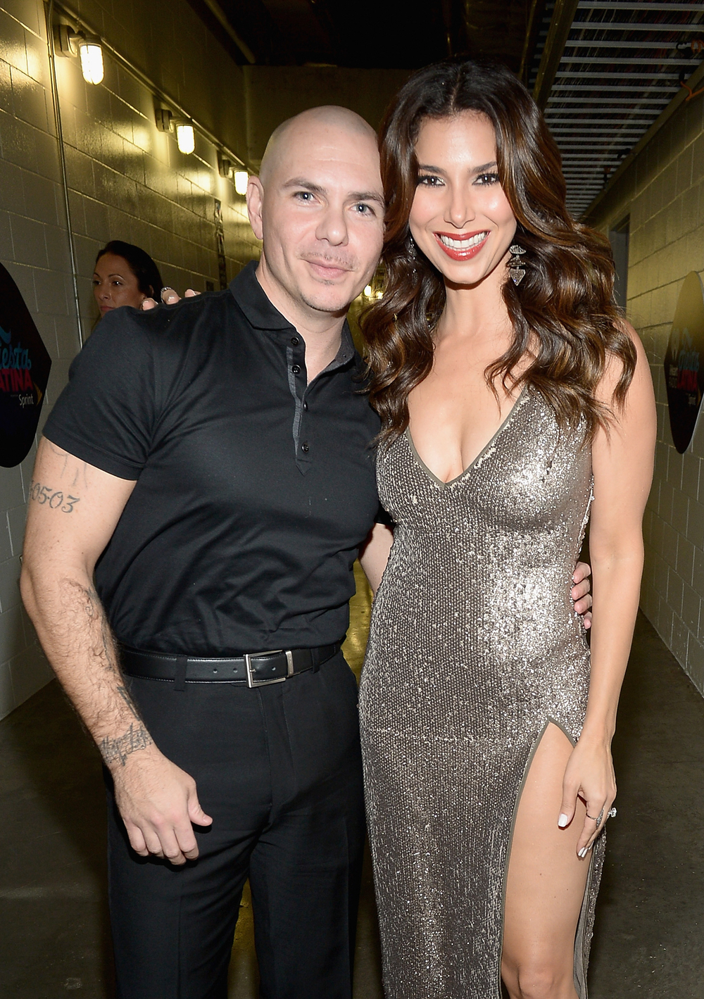 MIAMI, FL - NOVEMBER 07: Pitbull and Roselyn Sanchez attend iHeartRadio Fiesta Latina presented by Sprint at American Airlines Arena on November 7, 2015 in Miami, Florida.  (Photo by Gustavo Caballero/Getty Images for iHeartMedia) *** Local Caption *** Pitbull, Roselyn Sanchez