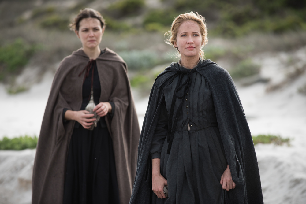 "Anna Camp as Dorothy Bradford, right, in National Geographic Channel's two-night movie event ""Saints & Strangers,"" premiering Nov. 22-23, 9/8c.
