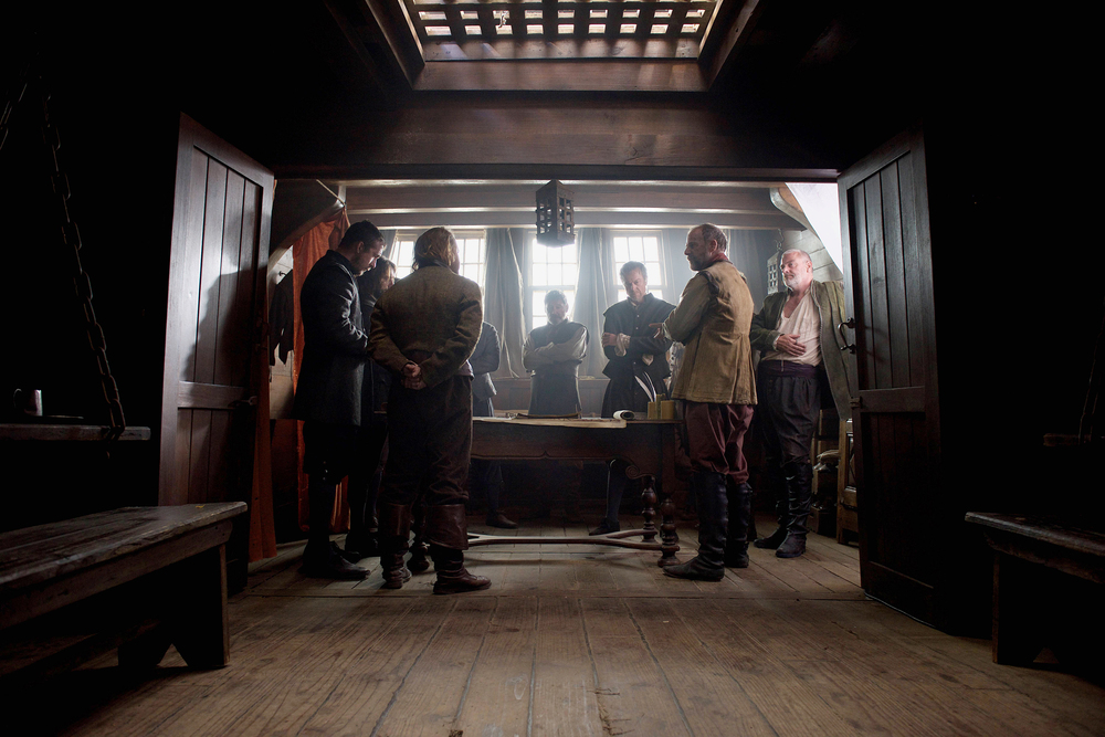 "Aboard teh Mayflower in National Geographic Channel's two-night movie event ""Saints & Strangers,"" premiering Nov. 22-23, 9/8c.