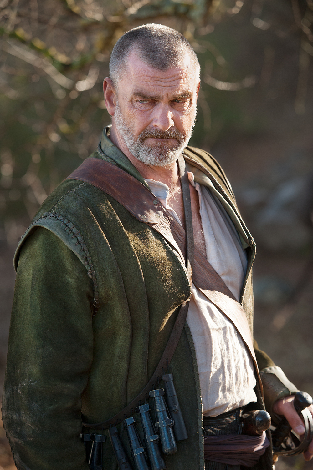 "Ray Stevenson as Stephen Hopkins in National Geographic Channel's two-night movie event ""Saints & Strangers,"" premiering Nov. 22-23, 9/8c.  Stephen Hopkins is a leader of the strangers — albeit one with a checkered past — and the only Mayflower passenger who had previously traveled to the New World. 