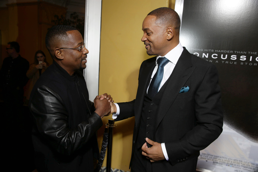 LOS ANGELES, CA- November 23, 2015. Martin Lawrence and Will Smith seen at Columbia Pictures' Special Screening of CONCUSSION at Regency Village Theatre.