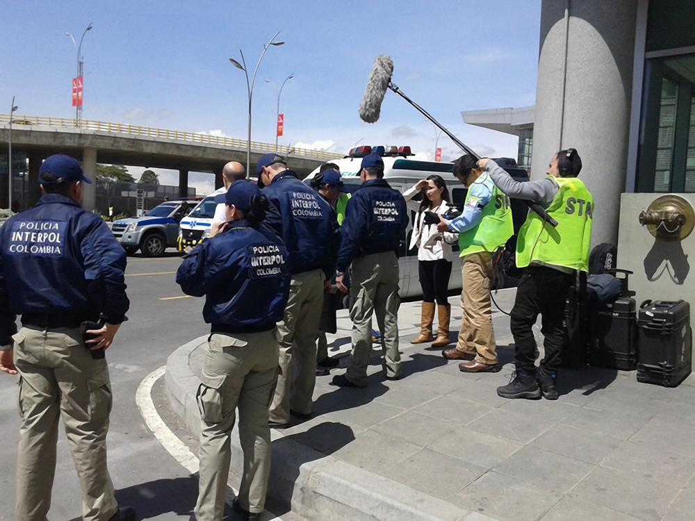 La Policía Interpol de Colombia en un operativo.jpg