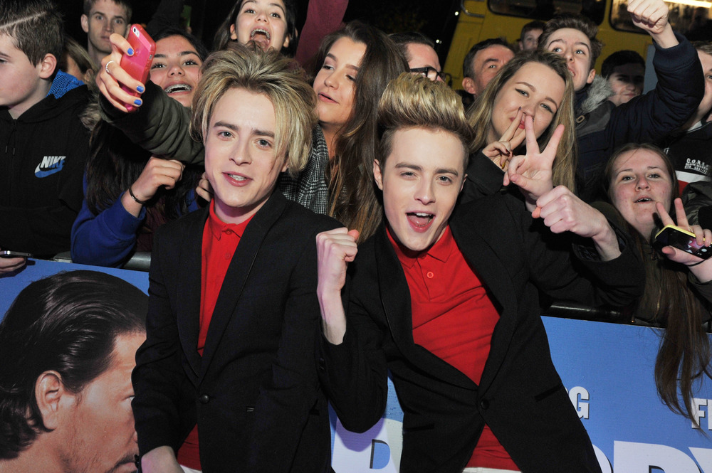 DUBLIN, IRELAND - DECEMBER 7: Jedward attend the Dublin Premiere of 'Daddy's Home' at the Savoy Cinema on December 7, 2015 in Dublin, Ireland. (Photo by Clodagh Kilcoyne /Getty Images for Paramount Pictures)
