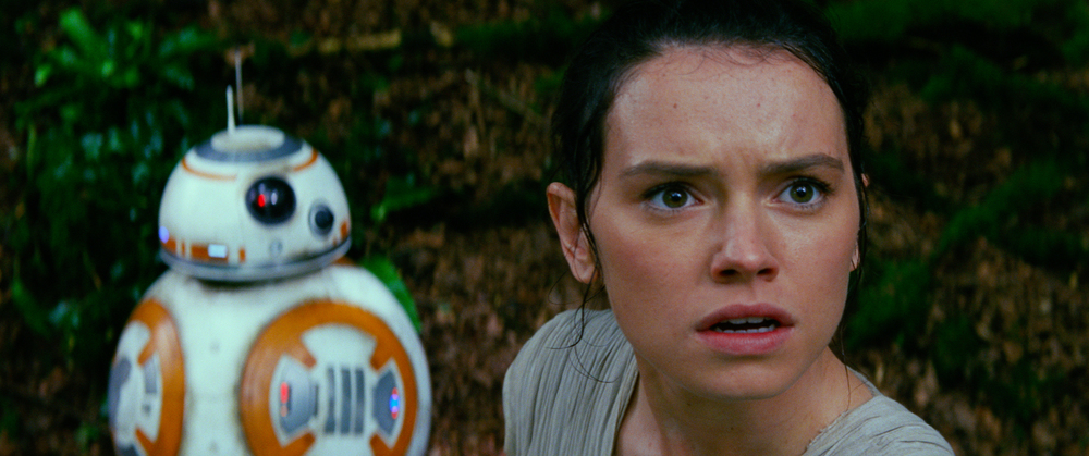 Star Wars: The Force Awakens..L to R: BB-8 and Rey (Daisy Ridley)..Ph: Film Frame..© 2014 Lucasfilm Ltd. & TM. All Right Reserved..