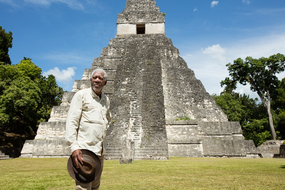 The Story of God with Morgan Freeman filming in Guatemala.(Photo credit:  National Geographic Channels)