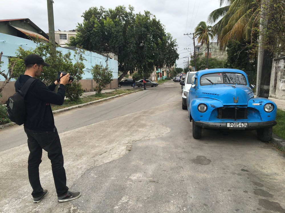CUBA- One of the camera operators took a picture of an almendron, an old American car, on a street in Cuba. 