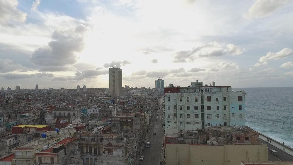 CUBA- This image depicts the peacefulness of the sky and ocean contrasted with the busy city of La Habana, Cuba.Esta imagen representa la tranquilidad del cielo y el océano en contraste con el ajetreo de la ciudad de La Habana, Cuba.(Photo Credit: National Geographic Channels/ Angel Renato Lombardi)