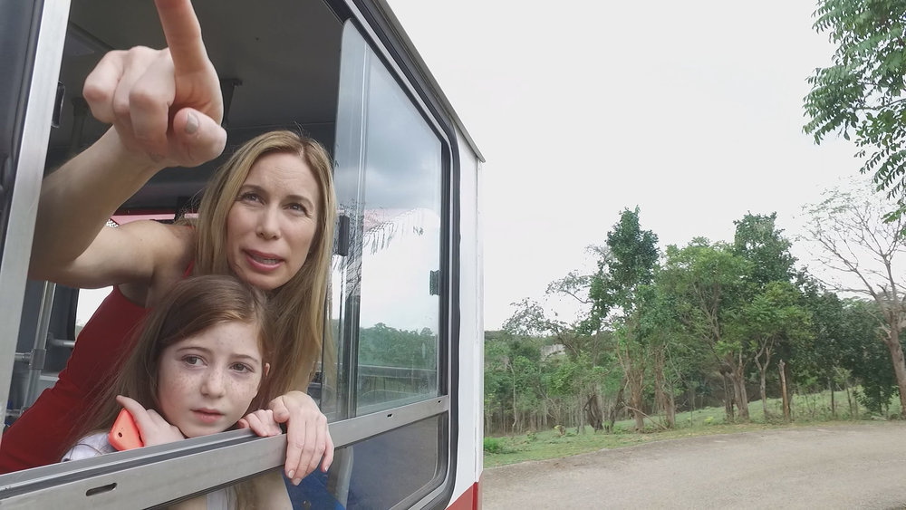 CUBA- Mireya Mayor, anthropologist, and her daughter, Ava Wolff, toured a zoo aboard a bus in Cuba.