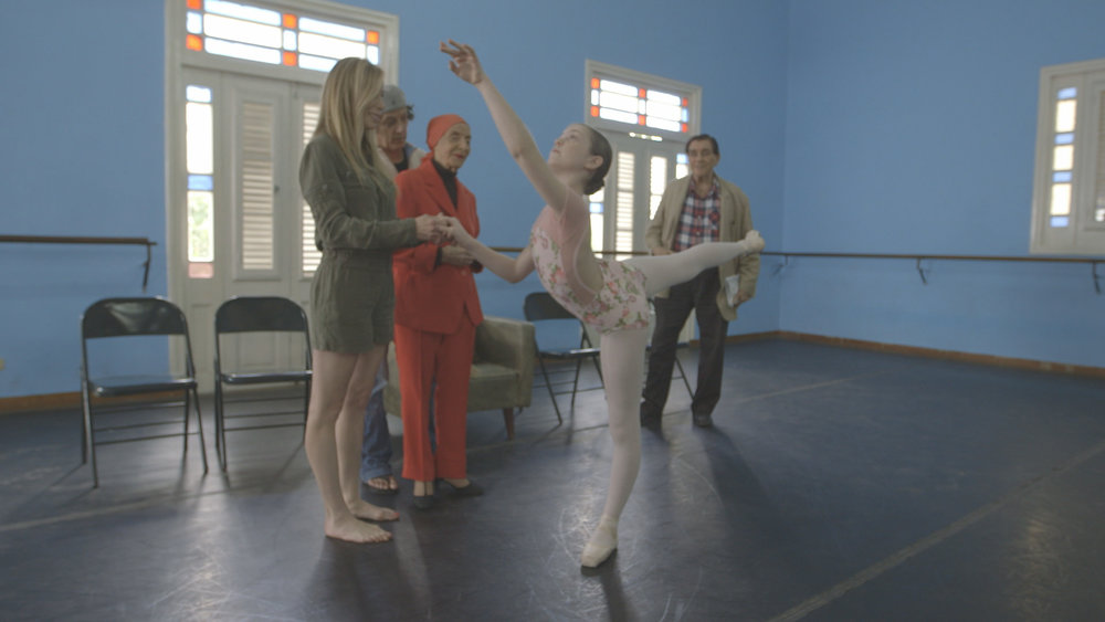 CUBA- Mireya Mayor's daughter, Emma Wolff, danced in front of a Cuban prima ballerina and founder of the Ballet Nacional de Cuba, Alicia Alonso. 