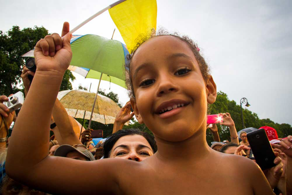 CUBA- A cuban girl anxiously awaited the arrival of Pope Francisco to Cuba.
