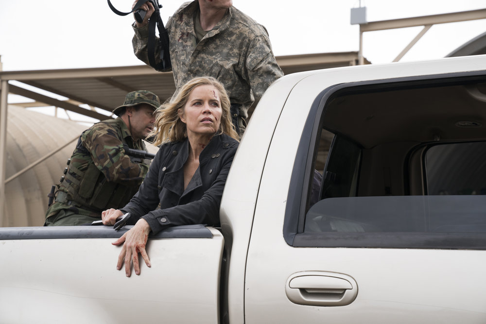 Kim Dickens as Madison Clark - Fear the Walking Dead _ Season 3, Episode 1 - Photo Credit: Michael Desmond/AMC