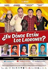 ¿En dónde están los ladrones? (comedia)   Andrés es un genio de la tecnología y un dedicado padre de familia con una conducta intachable hasta que su jefe le tiende una trampa que lo obliga a convertirse en un ladrón. Aunque torpe y cobarde, Andrés tratará de desligarse del lío en que está envuelto y desenmascarar a una peligrosa red de criminales, mientras oculta su misión de su esposa, su precoz hijo, y su entrometida empleada. Actúan Alejandro Gutiérrez, Fabiola Posada, Lina Castrillón, José Manuel Ospina, y María Auxilio Restrepo.