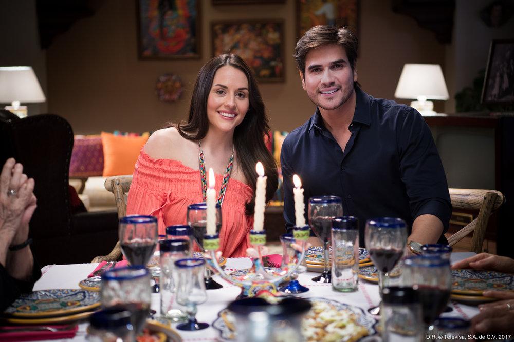 Zuria Vega and Daniel Arenas in Univision newest telenovela- Su Marido Tiene Familia (1).jpg