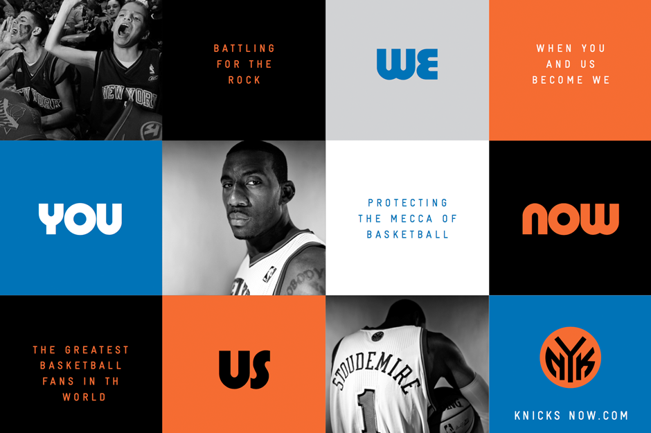 You. Us. We. Now.  Launch Campaign for the New York Knicks
