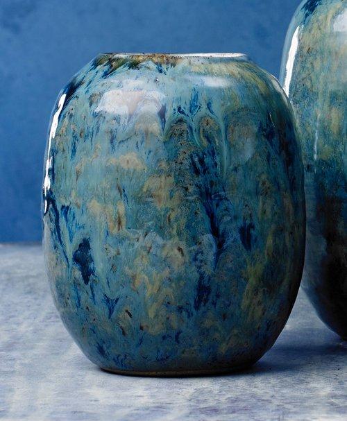 Bluemustard Oblong Vase Danny Kaplan Design