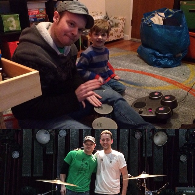 I had two pretty serious drum hangs today-Noel & Fran #drumlessons #musiceducation #youngthegiant #vicfirth