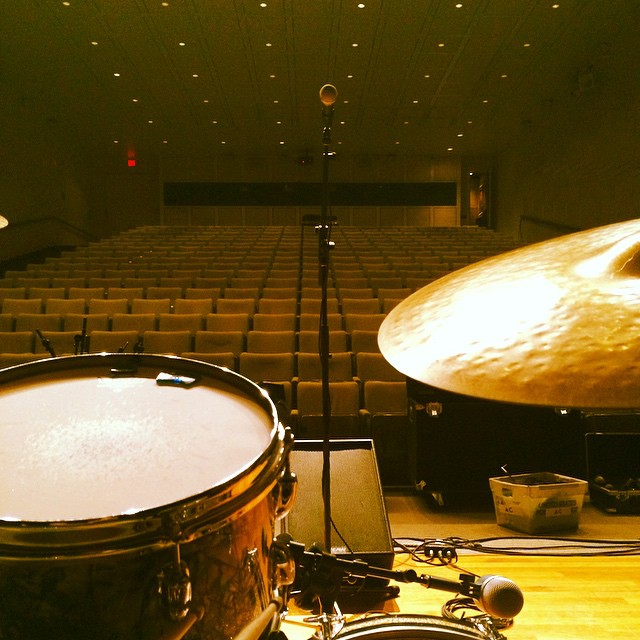 Soundcheck. 230pm show- #MFA #MFAboston#JennyDee&TheDeelingquents #bostonmusic #vicfirth