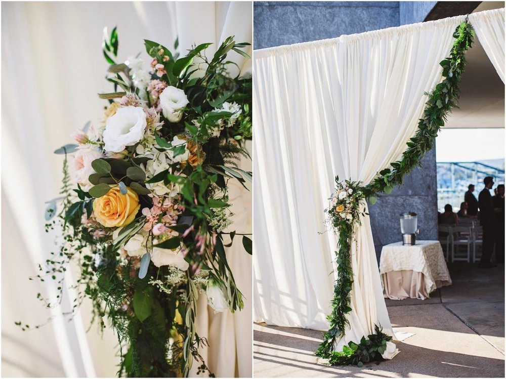 Entrance Garland with Floral Accent