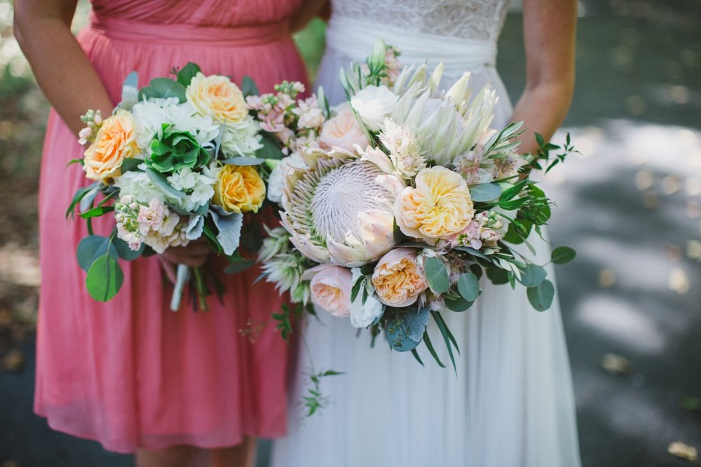Peach, Pink and Mint Green